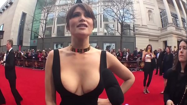 Gemma Arterton in a VERY slutty dress