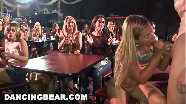 DANCING BEAR - Real Women, Real Horny, Sucking Big Dicks in a CFNM Party