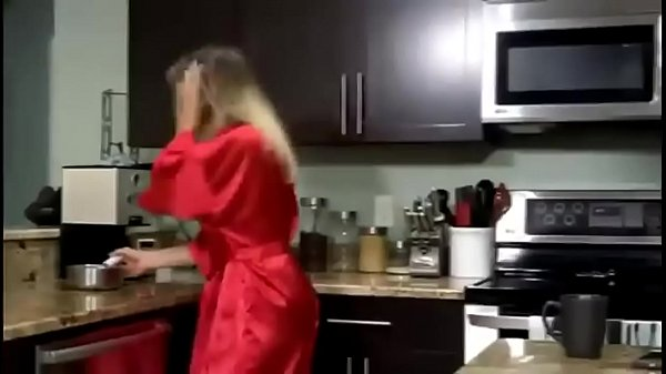 Mom gets Breakfast Creampie from Son  thumbnail
