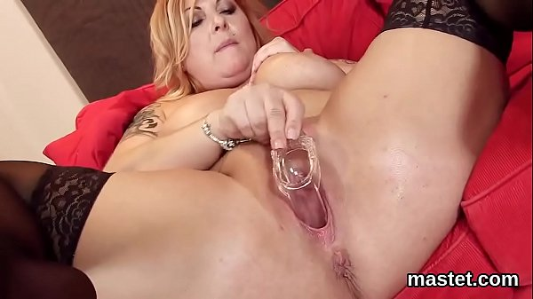 Hot czech nympho stretches her tight snatch to the special