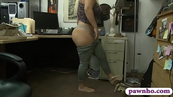 Big butt and big tits woman pussy fucked by pawn keeper