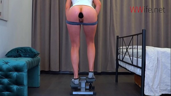 Butt Plug during workout - Large Plug in my Tight Ass! Thumb