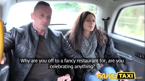 Fake Taxi Horny French wife sharing taxi backse...