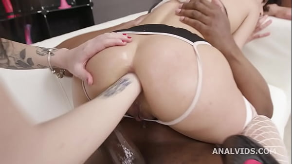 Black Pee, Stacy Bloom Vs 2 BBC with Balls Deep Anal, Almost ButtRose, Pee Drink, Anal Fisting and Creampie Swallow GIO1741