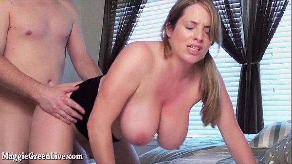 Busty Maggie Green Receives Facial After BJ!