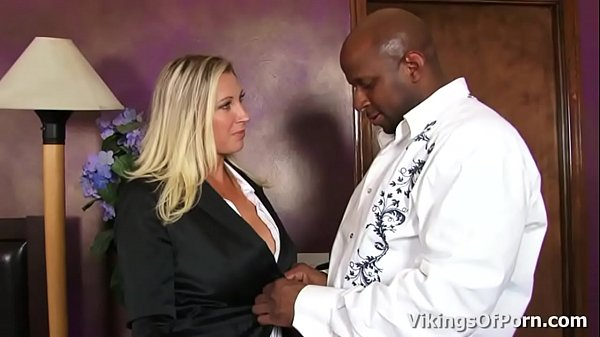 Beautiful blonde Milf Devon Lee fucked by a Black Monster Cock