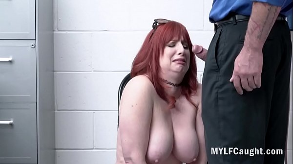 Redhead MILF Didn't Think Cop Would Inspect Her Ass- Amber Dawn Thumb