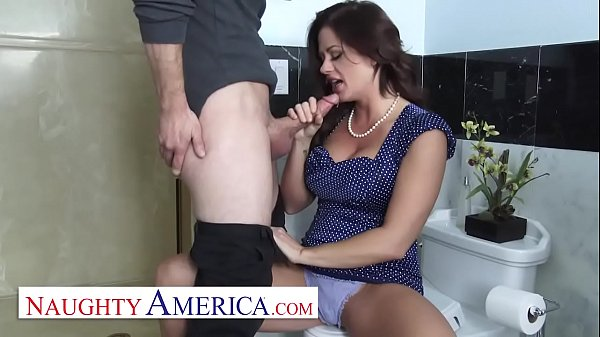 Naughty America Holly Heart gets her pipes filled by the plumber