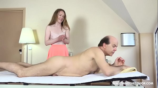 Hot Masseuse Gives Old Citizen a Hard Time