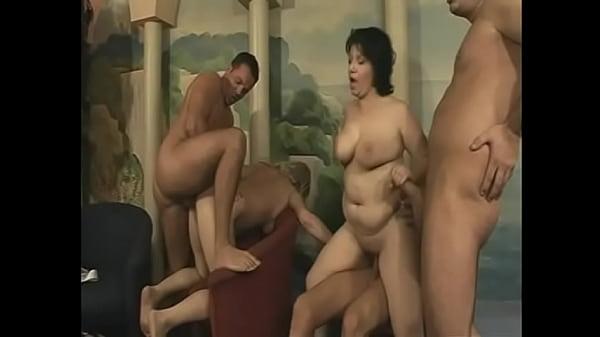 Mature sluts and young lads enjoy hot sex-filled orgy
