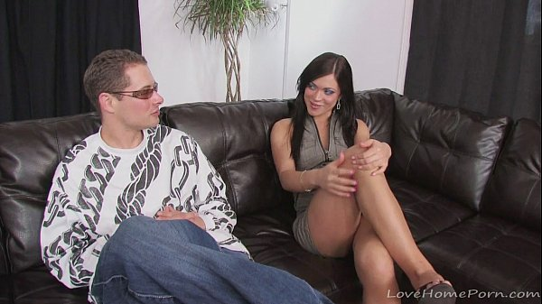 Guy wears sunglasses while drilling his girlfriend