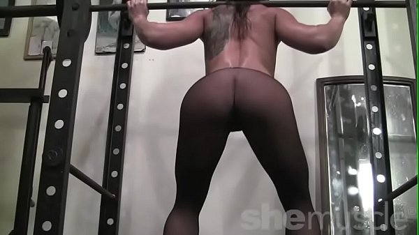 Fit Porn Legend Inari Vachs Poses and Works Out