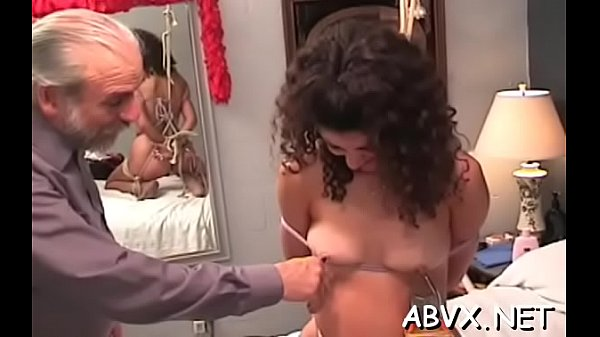 Big ass aged extreme moments of rough dilettante bondage
