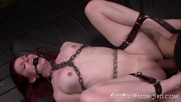 BDSM redhead Emma Evins stuffed with big dick in dungeon Thumb