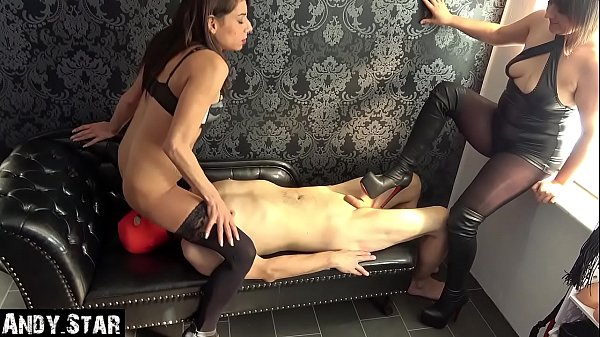 Cuckold slave is used by young couple Thumb