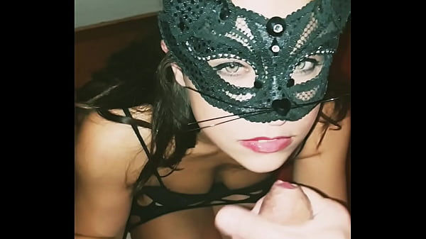 Valery masked blowjob and cumshot