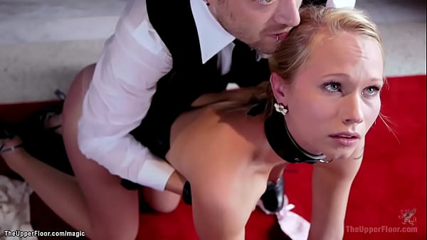 Business woman in threesome bdsm sex