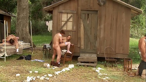 Down-Home Country Orgy. Outdoor Anal Group Sex & Face Fucking with Pretty Farm Girls Thumb