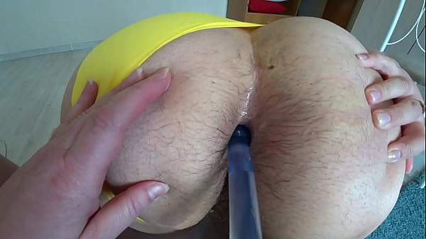 Anal orgasm and juicy PAWG shaking in panties Mature lesbian doggy style and girlfriend with dildo fuck her hairy anal Home fetish POV