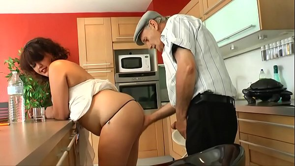 grandpa gets fucked by the horny babe's cock fo...
