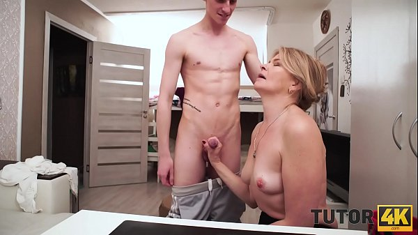 TUTOR4K. Guy doesnt pay tutor for lesson but just bangs older bitch Thumb