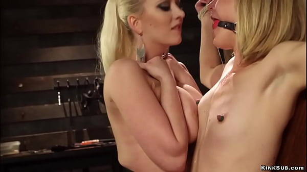 Gagged bound lesbian anal fucked