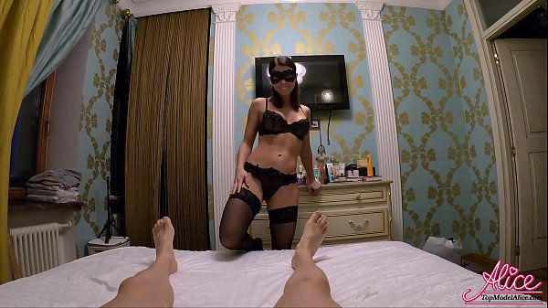 Brunette in Stockings Hard Fucking with Lover a...