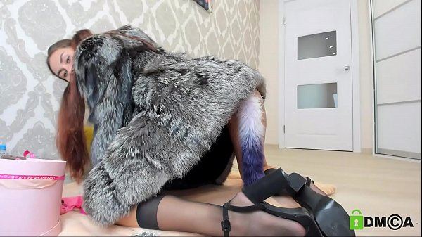 anal play in a fur coat