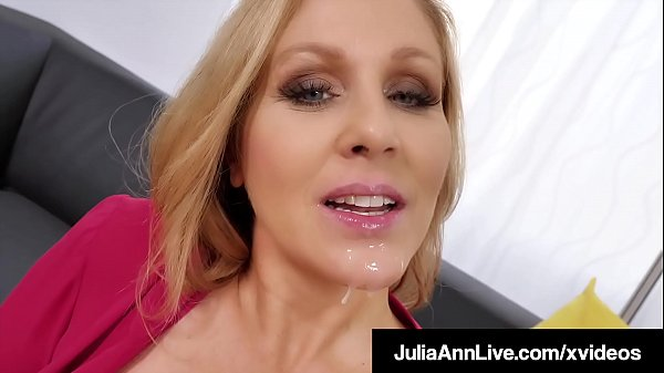 Cock Craving Cougar Julia Ann Face Fucks A Throbbing Dick!