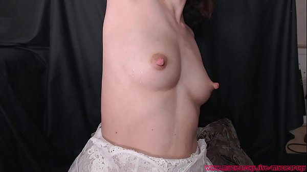 Sensual play with tits and armpit