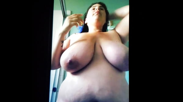 my busty bbw Chunky latina homegirl with huge titties gets naked for me on s