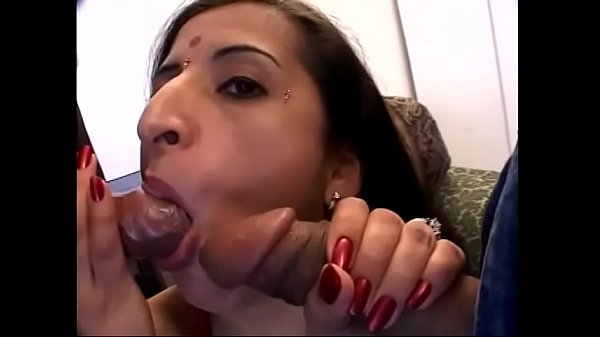 Two studs fuck indian bitch's shaved cunt and a...