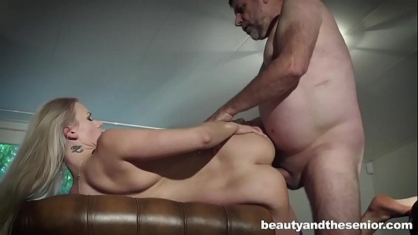 Blonde Katy Sky seduces old man Philippe Soine to fuck her Thumb