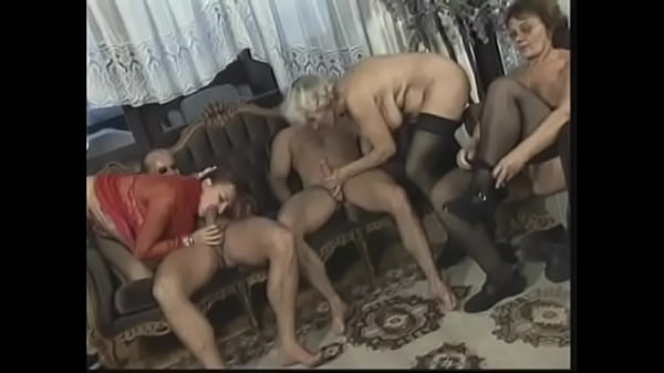 Lusty mature get pussies plowed by young stud on couch