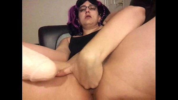 Vanessa Cox 18 inch dildo fucking my meaty pussy from all angles