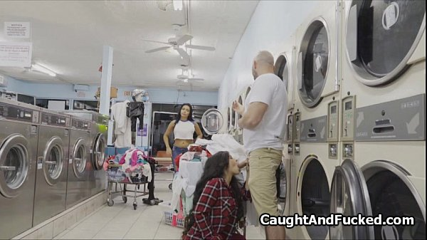 Busty caught stealing at laundromat