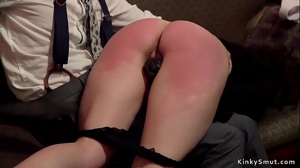 Experienced slaves group banged at party