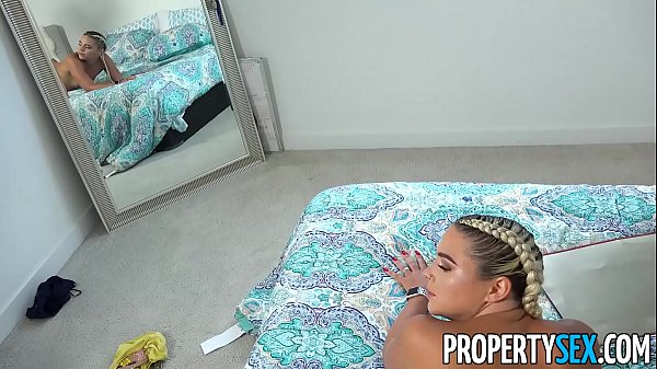 PropertySex - Hot curvy blonde busted for smoking fucks roommate