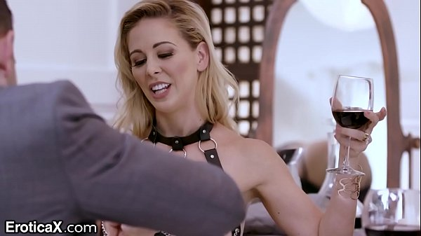 EroticaX Mistress Cherie Teases Teen Slave with Cock and Vag Licks Thumb