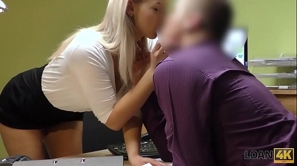 LOAN4K. Sexy blonde pays for her debts using her perfect young body