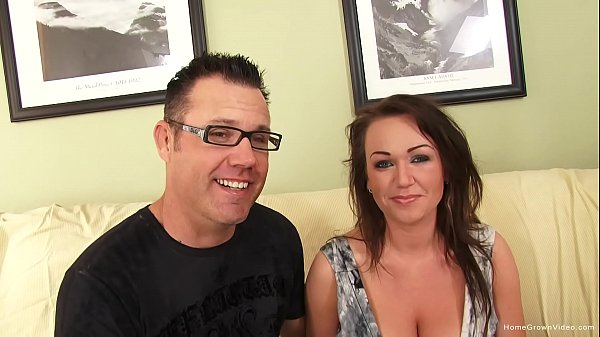 Stunning busty girlfriend gets pounded in first video