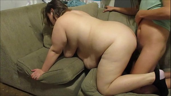 Sister pussy tryouts sucking and getting fucked balls deep doggy style on couch banging out her wet tight pussy making her moan and cum