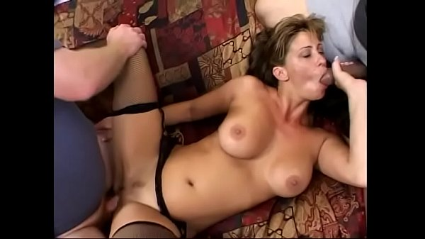 Hot Phylisha Anne gets threesome interracial action in her living room