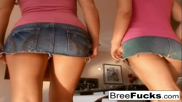 Anal slut Bree shares a cock with her cute friend Alexa