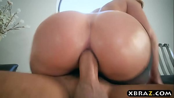 Big ass in nylons of Brooklyn Chase filled by a...