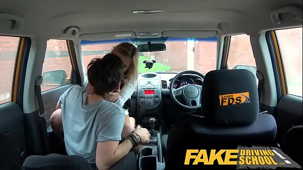 Fake Driving School Horny blonde American learners squirting orgasms Thumb
