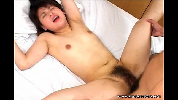 Hairy pussy Asian riding cock