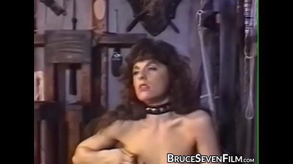 Young lesbian restrained for rough paddling by domina