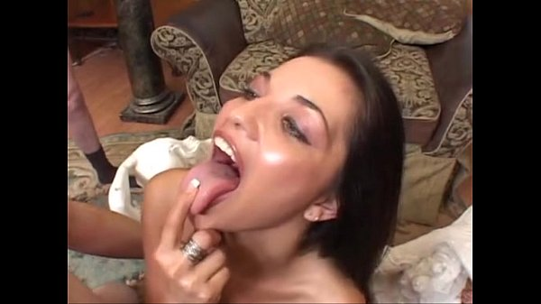 Alicia Angel happy to swallow