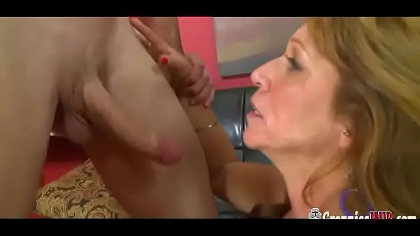 Horny Granny With Lovely Boobs Gets Creampied B...